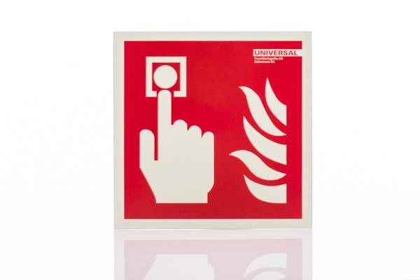 Brandschutzschild Alarmtaster